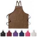 TOPTIE Unisex Canvas Work Apron with Pockets Adjustable Woodworking Canvas Tool Apron for Blacksmiths Gardeners Mechanics BBQ
