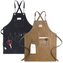 Opromo Kitchen Work Apron, Heavy Canvas Aprons, Tool apron with Adjustable Strap And Large Pockets