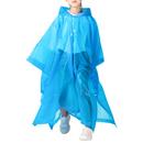 Opromo Portable EVA Raincoat Unisex Kid Rain Poncho Reusable Waterproof Hooded Drawstring