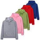 Opromo Unisex Hooded Pullover Sweatshirt Midweight Raglan with Drawstring, S-3XL