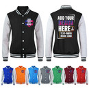 Custom Mens Slim Fit Varsity Baseball Jacket Cotton Pullover Adult Coat in 13 Colors, S-3XL
