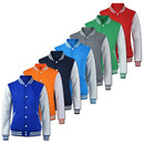 Opromo Mens Slim Fit Varsity Baseball Jacket Premium Cotton Jackets Pullover Adult Coat 13 Colors, S-3XL