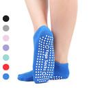 Opromo Unisex Anti Slip Yoga Socks Non Skid Barre Pilates Ballet Socks with Grips for Adults