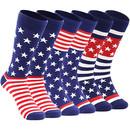 American Flag Socks Patriotic Flag Stars Novelty Funny Crazy Funky Groomsmen Socks Patterned Men's Socks