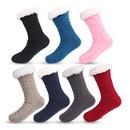 Opromo Unisex Heavy Thick Wool Socks, Soft Warm Comfort Winter Crew Socks Anti Slipper Socks