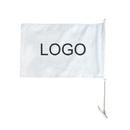 Custom 110G Polyester Rectangle Car Flag, Full Color, 1 Side, 16