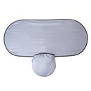 Blank Nylon Single Panel Automobile Sun Shade with Elastic Strap, 52