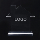 Custom Acrylic House Shape Desk Award, 6