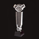 Promotional Crystal Handshaking Shape Award with Black Base