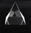 Blank Crystal Pyramid Paper Weight, 2 3/4