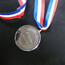 Custom Small Crystal Medal, Meaningful Crystal Award, Sand Blasting