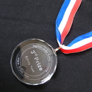Custom Medium Crystal Medal, Meaningful Crystal Award, Sand Blasting