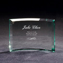 Custom Premium Jade Glass Crescent Award, 7