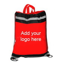 Customized Large 210D Polyester Reflect Drawstring Sport Packs, 16