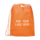 Customized 80G Non-woven Single Drawstring Backpack, 19