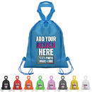 Custom 80G Non-woven Drawstring Backpack with Carry Handle