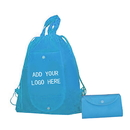 Customized 80G Non-woven Foldable Drawstring Backpack, 16.5