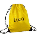 Customized 190T Polyester Drawstring backpack, 17.72