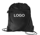 Custom 210D polyester Drawstring Backpack with front pocket, 14
