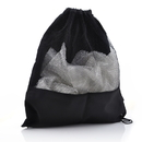 Blank Drawstring 600D Poly Mesh Bag, 14 3/4