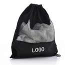 Custom Drawstring 400D Poly Mesh Bag, 14 3/4