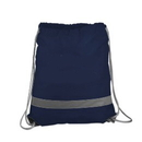 Blank 190T Polyester Reflective Drawstring sport pack, 14-1/2