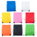 Custom 210D Nylon Drawstring Backpack with PU Reinforced Corners, 13