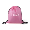 Custom 80G Non-Woven School Drawstring Backpack, 16