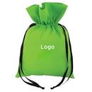 Custom 60G Non Woven Polypropylene Gift BAG with Ribbon Drawstring Closure, 10