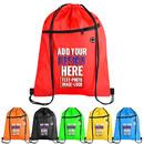 Custom Traveling Non-Woven Storage Bags w/Drawstring Closure, 7-1/2