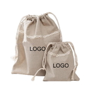 Custom Opromo Cotton Linen Muslin Drawstring Bags Storage Bags