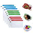 (3PCS/Price) GOGO Reusable Mesh Produce Bags for Grocery Shopping Storage, Fruit, Vegetable and Toys