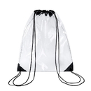 Opromo Stadium Clear Drawstring Bag Waterproof Transparent Backpack Gym Bags