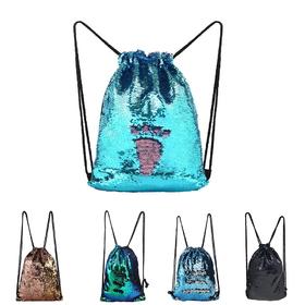 Drawstring Backpack Snow Mountain Mural Shoulder Bags