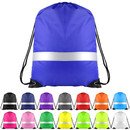 Opromo Reflective Drawstring Backpack Bags Promotional Sport Gym Sack Cinch Bags