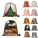 Opromo Christmas Gift Bags Halloween Goody Bags, Drawstring Backpack for Party Favors and Festival