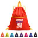 Custom Nylon Drawstring Backpack Sport Sackbag Waterproof Gym Storage Bag with Zipper