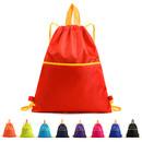 Opromo Waterproof Nylon Drawstring Backpack Sport Sackbag Gym Storage Bag with Zipper