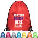 Custom Waterproof Cinch Drawstring Gym Backpack Durable Pull String Bag