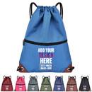 Custom Waterproof Drawstring Bags Unisex Sport Backpack School Shoulder Sackpack