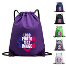 Custom 210D Nylon Waterproof Gym Drawstring Backpack Bulk Cinch Bag