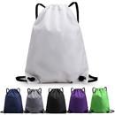 Opromo Nylon Waterproof Drawstring Backpack Gym Sack Cinch Bag Sports Sackpack Bag