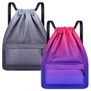 Opromo Water Resistant Gym Drawstring Backpack Nylon Cinch Sport Bag School Sackpack