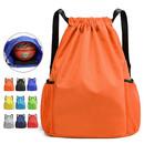 Opromo Nylon Waterproof Drawstring Backpack Gym Sackbag