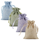 Opromo Burlap Gift Bags Linen Jewelry Pouches Hessian Jute Bags with Ribbon Drawstring for Birthday, Party, Wedding