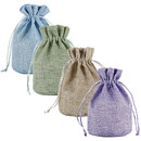 Opromo Burlap Jute Bags Hessian Gift Bags Linen Jewelry Pouches with Rope Drawstring for Birthday, Party, Wedding