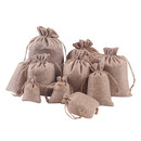 Opromo 25PCS Burlap Jute Bags Linen Jewelry Bags Hessian Gift Pouches with Rope Drawstring for Birthday, Party, Wedding