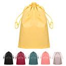 Opromo Waterproof PE Plastic Folding Drawstring Bag for Sport Home Travel Storage Use