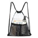Opromo Drawstring Clear Bag PVC Transparent Shoulder Crossbody Backpack Unisex Sackpack
