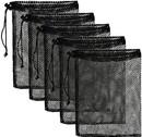 Opromo Nylon Mesh Drawstring Bag with Drawstring Cord Lock Closure Net Bag for Toys, Balls, Laundry, Equipment Storage